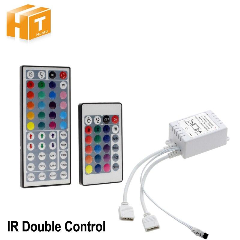 LED RGB Controller DC12V 44 Key / 24 Key Double Output IR Remote Controller For LED RGB Strip led controller 44 key ir remote controller for led light strip white