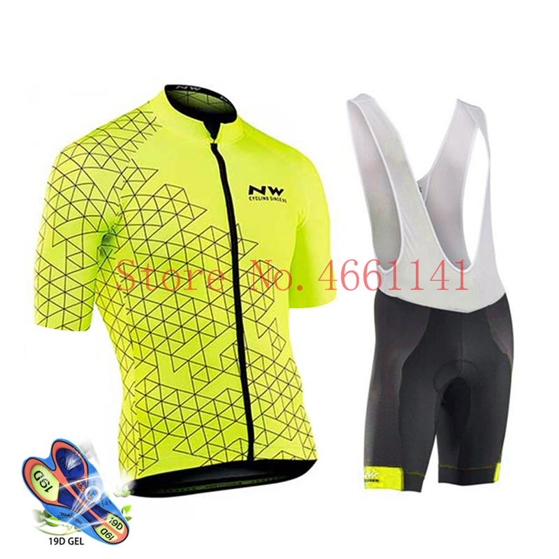 Men Cycling Jersey Set 2019 Pro Team Nw Breathable Bicycle Cycling Clothing Mountain Bike Maillot Ropa