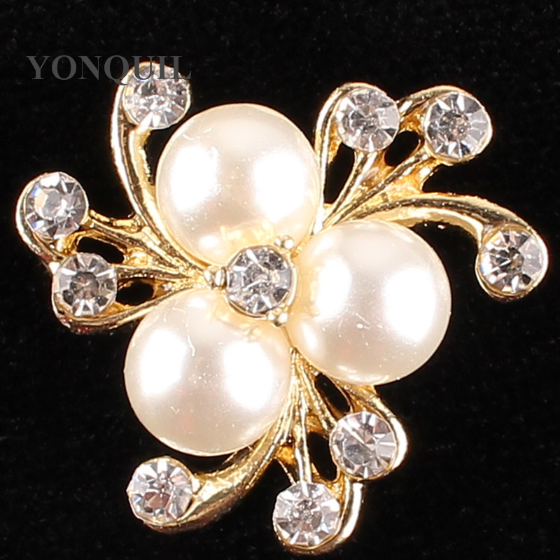 25*25 MM Size Flower Crown Rhinestone buttons Pearls DIY Glue bags Accessories Strass Rhinestones hats Clothes 15pcs/lot SYBB113