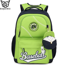 BAIJIAWEI 2017 Design Kids Backpack Cute High Quality School Bags In Primary School for Girls Boys