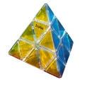 Nueva Llegada Transparente Pirámide Cubo Mágico Profesional de PVC Etiqueta Engomada Del Rompecabezas Velocidad Cubo cubo Mágico Juguetes Educativos 10 CM-45
