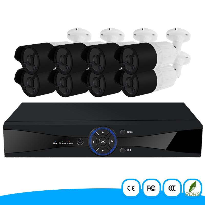 8 Channel 1080P AHD Security Camera System 2.0 Megapixel 8Ch Outdoor H.264 CCTV DVR Kit waterproof and night vision cctv camera home security system 16ch h 264 motion detect camera system dvr kit with 800tvl waterproof outdoor ir night vision cctv camera
