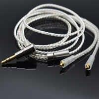 Nobyin upgrade Kopfhörer Silber überzogene kupfer draht kopfhörer mmcx kabel für SHURE SE215 se846 se535 NOBYIN S8 AZUR3 Pro kopfhörer