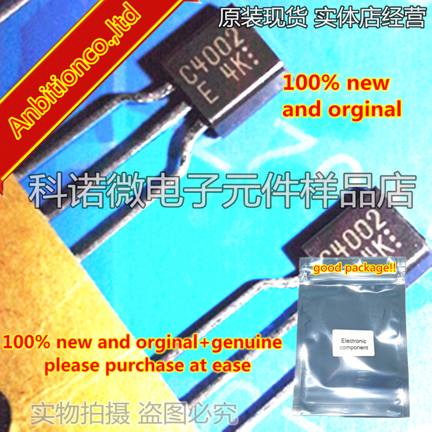 10pcs 100% New And Orginal 2SC4002 C4002 TO-92 High-Voltage Driver Applications In Stock