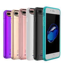 External Battery Charger Case For iPhone 6 6s 7 plus Cell Phone Power Bank Powerbank Charging Case Cover Built in Metal Sheet(China)