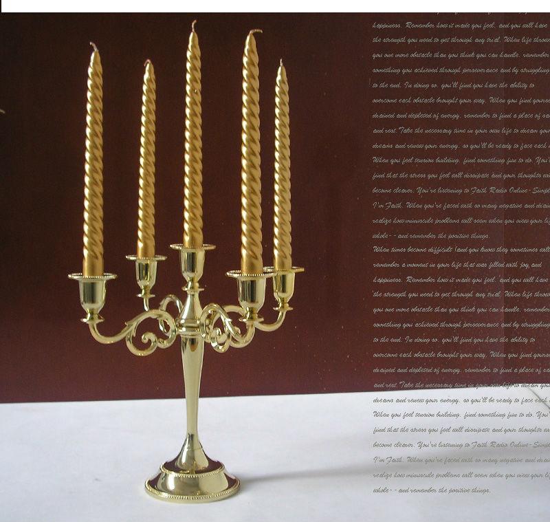 μοντέρνο χέρι 5 χρυσό κάτοχος κερί - Διακόσμηση σπιτιού - Φωτογραφία 1