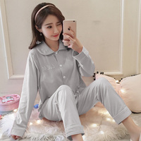 Maternity Spring Nursing Lounge Set Breastfeeding Shirt+ Pregnancy Pants Clothes for Pregnant Women Sleepwear Pajamas 3 colors