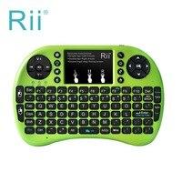 Rii i8 + smart 2.4g 92 keysไร้สายมินิคีย์บอร์ดMulti-touchทัชแพดด้วยB AcklitสำหรับAndriod/สมาร์ททีวีตู้HTPC