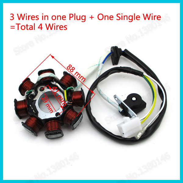 Gy6 stator wiring diy wiring diagrams 8 coil poles 4 wire dc magneto stator rotor for chinese gy6 50cc rh aliexpress com gy6 stator wiring rover gy6 magneto wiring diagram publicscrutiny Choice Image