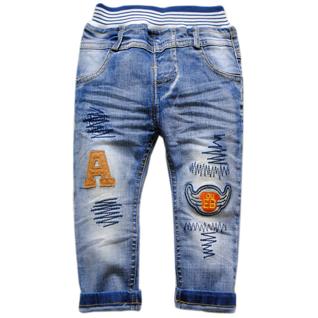6032 kids baby boys jeans denim pants spring autumn trousers  children's  fashion  new blue 2016