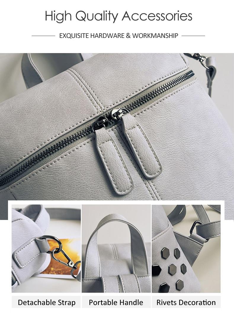 HTB1jUKWa.jrK1RkHFNRq6ySvpXa9 Simple Style Backpack Women Leather Backpacks For Teenage Girls School Bags Fashion Vintage Solid Black Shoulder Bag Youth XA568