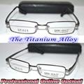 Optical Custom made optical lenses Titanium alloy gray full-rim frame Reading glasses +1 +1.5 +2+2.5 +3 +3.5 +4 +4.5 +5 +5.5+6