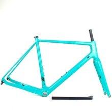 Carbono grava bicicleta super Luz de bicicleta de carretera a través del eje 142*12 freno de disco de max neumáticos 700 * 40c ciclocross bicicleta de grava de Marcos