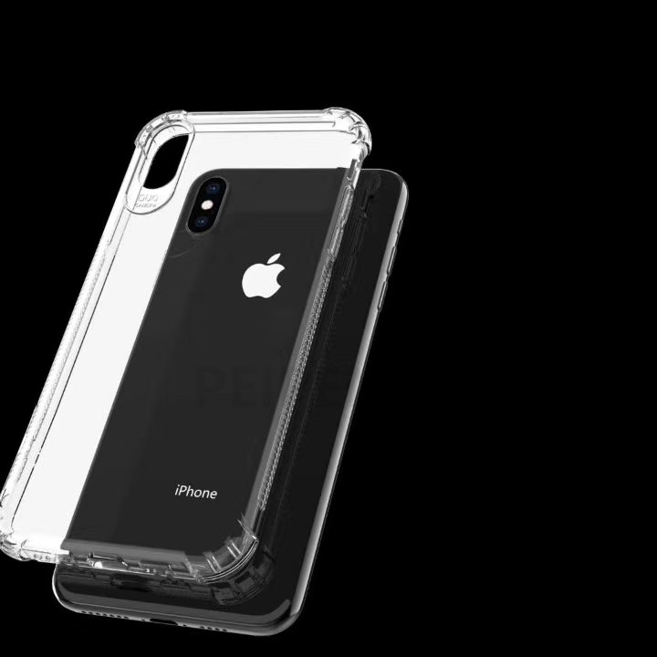 PEIPENG  Luxury phone CaseThickened anti-fall For iPhone XS MAX XR X Ultra Thin Transparent Back Case For iPhone 6 6s 7 8Plus Simple 05