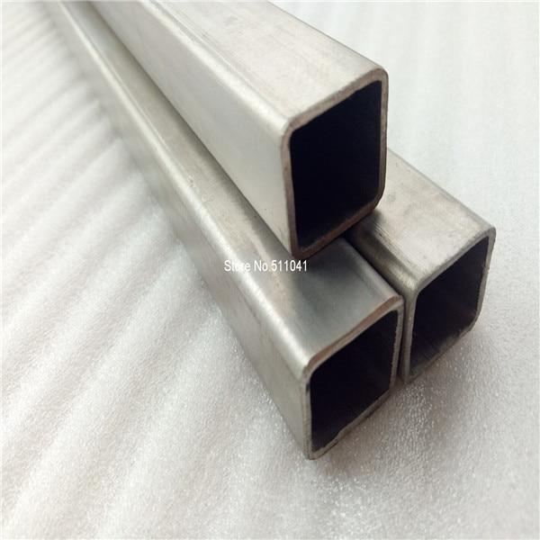 50pcs Titanium square tube 25mm*25mm*1.0mm*600mm Grade 2 Gr.2 Gr2 titanium metal Trangle Corner SEAMLESS tube,free shipping