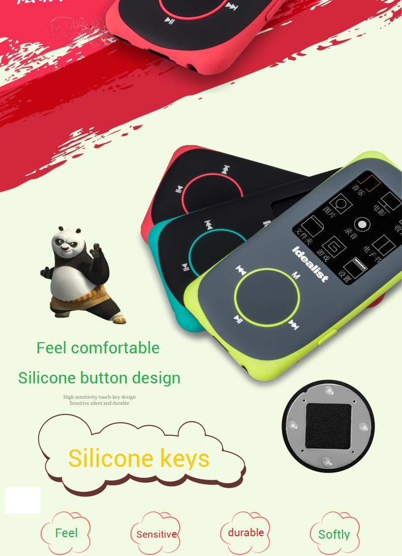 """Idealist Sport HIFI Running MP3 Player 1.8"""" Lossless MP4 Player Support Picture Recording Video TF With Earphone Armband Speaker 9"""