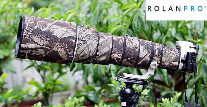 ROLANPRO lentille Camouflage manteau couverture de pluie pour Canon EF 500mm F/4.5 L USM lentille housse de protection étui pistolets protecteur DSLR extérieur
