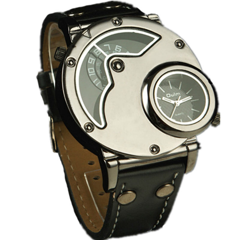 Men cool designer watch 2 time zone double time impor