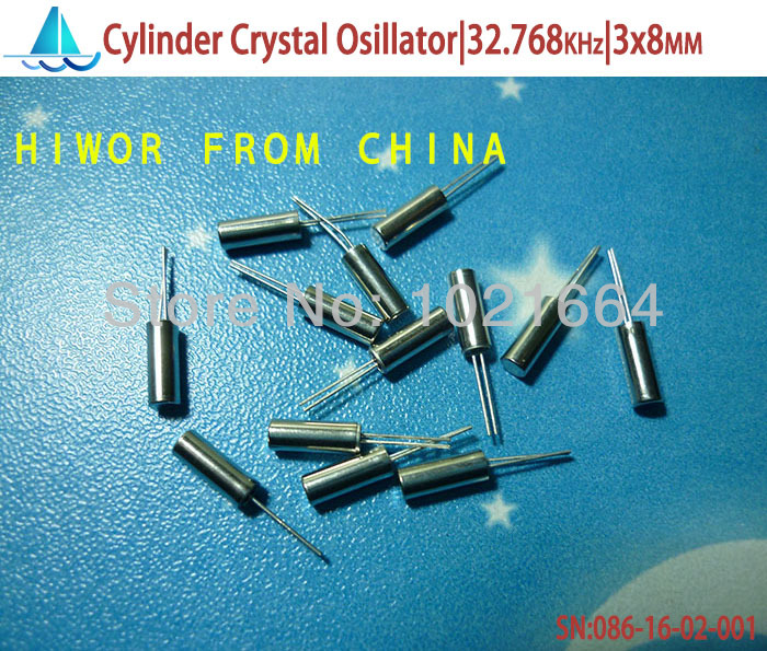 (100pcs/lot)(<font><b>Crystal</b></font>|Cylinder) Cylinder Clock <font><b>Crystal</b></font> Oscillator 32.768KHz, 3x8MM,Passive Quartz <font><b>Crystal</b></font> Resonator, <font><b>32768</b></font> image
