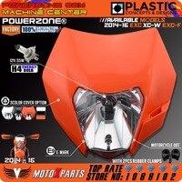 Powerzone 헤드 라이트 오토바이 먼지 자전거 motocross supermoto 범용 오렌지 ktm sx exc xcf sxf smr 2015 16 헤드 램프