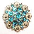 Carft Пункт Западной Кончо Винт Металлический Цветок Горный Хрусталь Concho Пояса