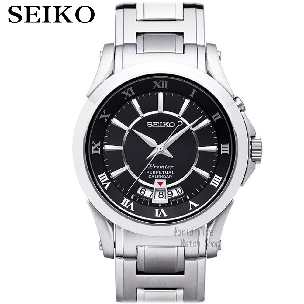 SEIKO Watch Premier calendar sapphire watch business male watch SNQ103P1 seiko watch premier series sapphire chronograph quartz men s watch snde23p1