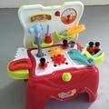 As crianças brincam casa simulação de caixa de ferramentas menino manutenção reparo chave de fenda conjunto de brinquedos funileiro