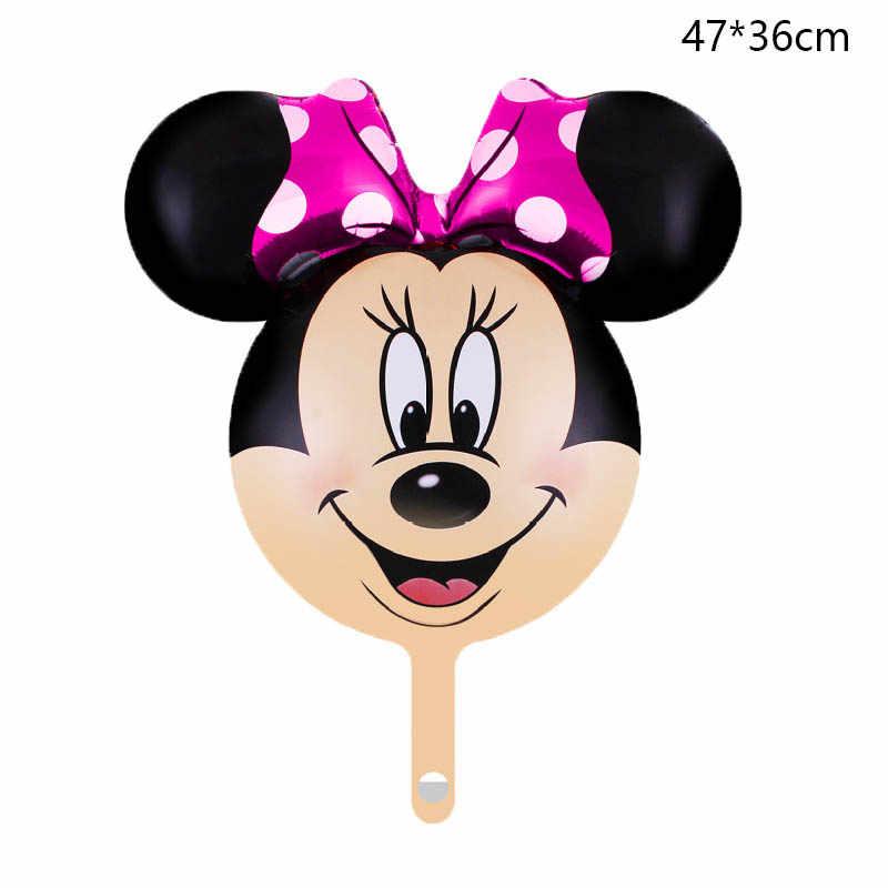 Микки Минни Маус алюминиевые шары детский душ день рождения девочки мальчика вечерние Свадьба День святого Валентина Декор шар 47X36cm