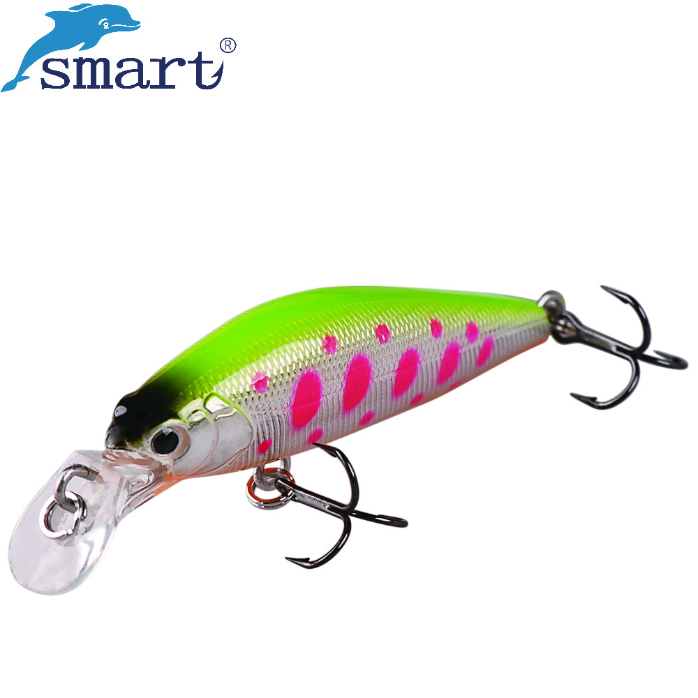 Smart Minnow Bait 42mm 3.66g Sinking Hard Bait VMC Hook Iscas Artificiais Para Pesca Em Rio Lote Leurres De Peche Fishing Tackle 1pcs 12cm 11 5g fishing lure bass bait minnow lures 6 hook iscas artificiais para pesca crankbait fishing tackle zb34