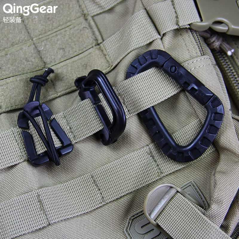 1 zestaw różne klamra Grimloc strony internetowej Dominator Molle Tactical plecak breloki do kluczy organizator karabinek klipy Zestawy podróżne # CS011