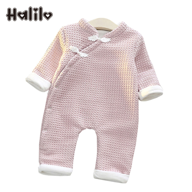 08daad4a4e5b Halilo Baby Rompers Winter Plus Velvet Warm Baby Jumpsuit Infant Christmas Clothes  Newborn Boys Girls Rompers Girl Clothing 2019