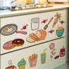 Creative Food Pattern Self Adhesive Vinyl Removable Decal for Kitchen Cabinet Decor Home Decoration PVC Wall Stickers Mural 1