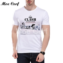 2017 New Summer Fashion T Shirts The Clash Punk Band T Shirt Men The Clash Artworks Design Tee Shirt Cool Boy Tops Tee L12-38