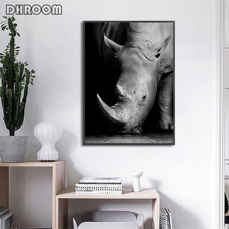 HTB1jUM4aQ5E3KVjSZFCq6zuzXXaJ Nordic Canvas Art Painting Wall Art Animal Canvas Painting Lion Zebra Wall Pictures posters Print for Living Room Home Decor