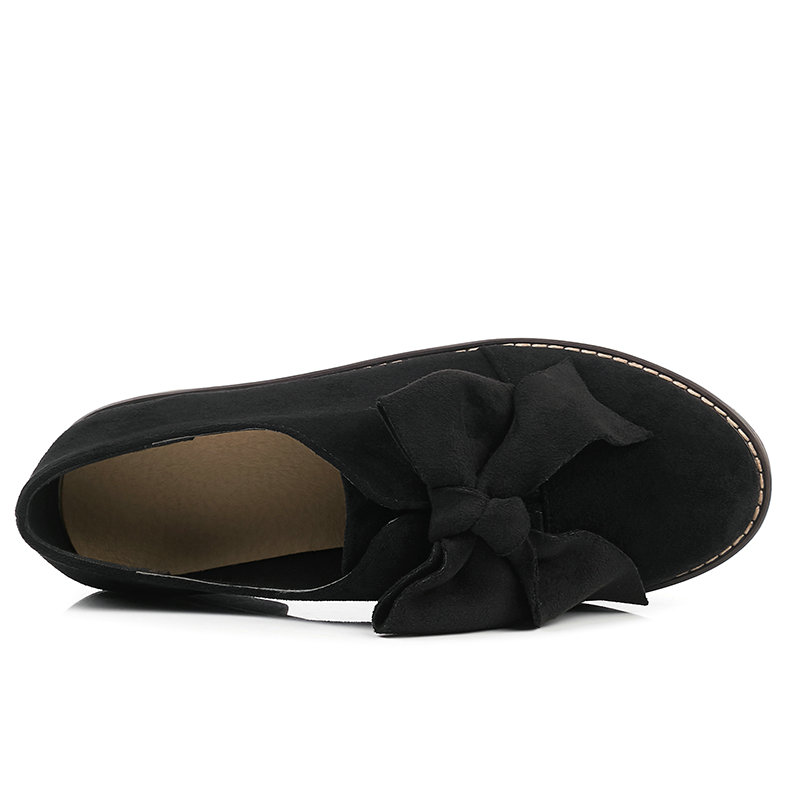 Femmes Lacets 34 Chaussures 43 Décontractées Match Les Taille Élégant Pour noir Pompes Tous Dames Apricot À marron Troupeau forme Plate 2019 Mode Qutaa IUz5w5