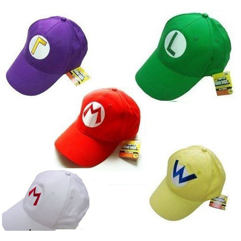 retail mario bros baseball hat caps blue purple
