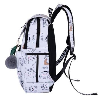Black School Backpack | Women USB Charging Backpacks For Teenage Girls School Bags Black Travel Bags Bagpack Female Fashion Laptop Bag Mochila Feminina