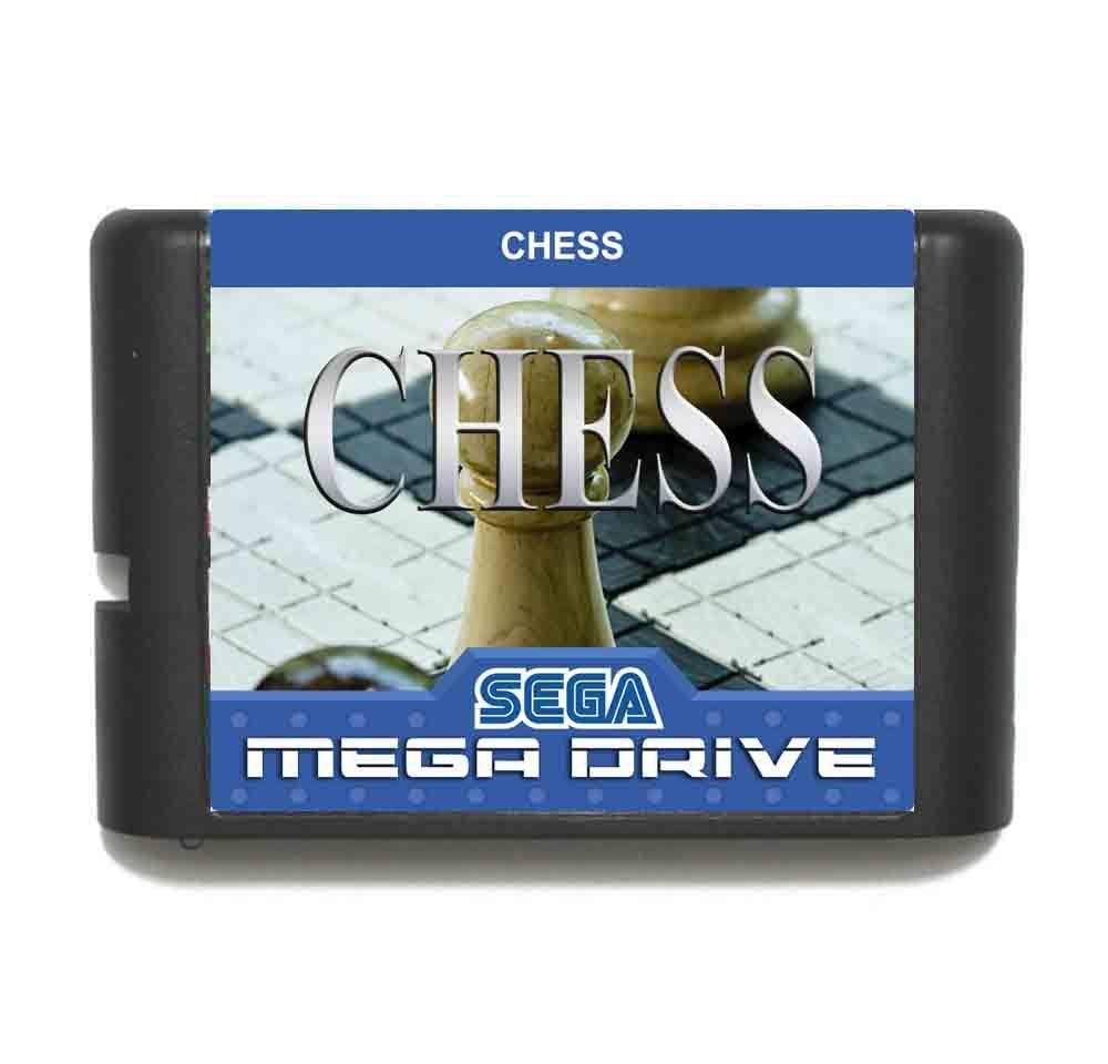 Chess 16 bit MD Game Card For Sega Mega Drive For Genesis