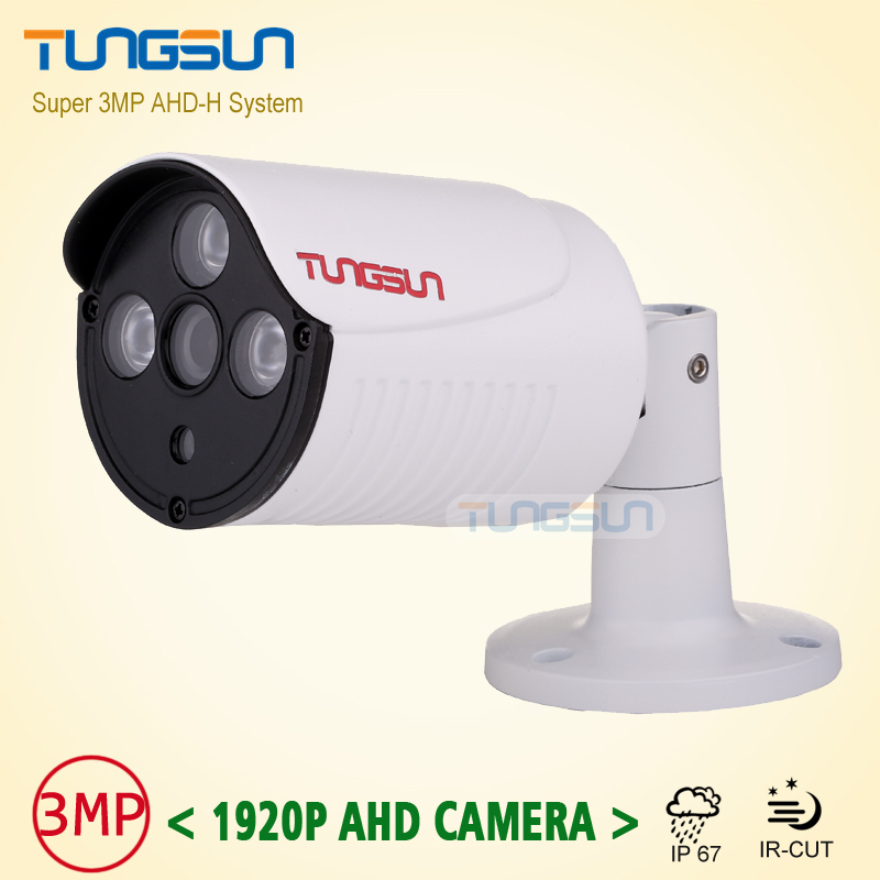 New Arrival Super 3MP HD 1920P AHD Camera Security White Metal Bullet CCTV Surveillance Outdoor Waterproof 3* Array infrared low illumination hd 1 3mp cctv 960p ahd camera 3000tvl outdoor waterproof mini small metal white bullet ir security surveillance