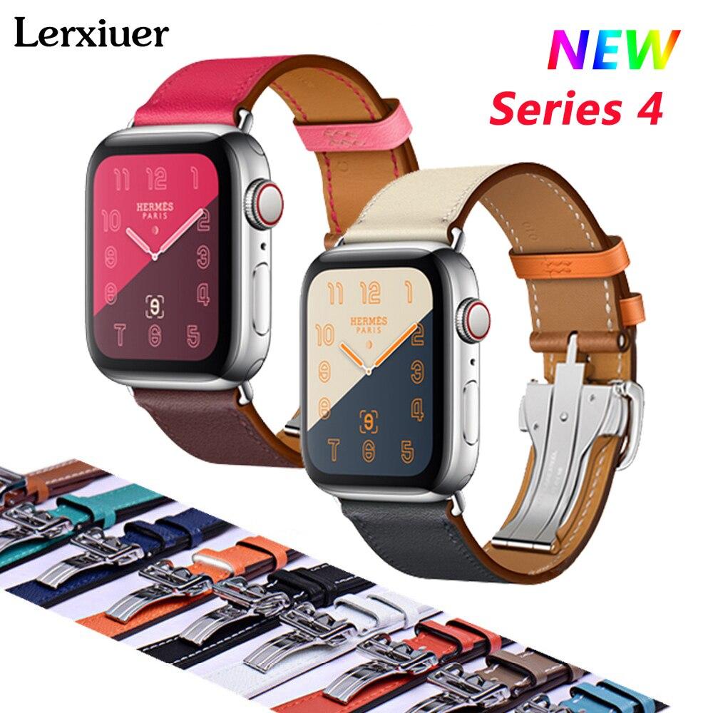 De cuero hebilla correa de reloj para Apple 4 banda de 44mm/40mm Iwatch Serie 3/2/ 1 42mm/38mm correas solo Tour pulsera de la muñeca