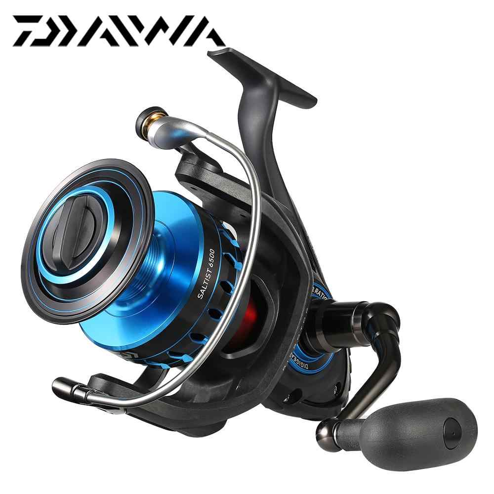 Original DAIWA SALTIST 5000 6500 8000 Spinning Fishing Reel Big Wheel 9BB 15KG Max Drag Saltwater Sea Fishing Tackle
