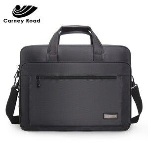 Image 1 - Waterproof Oxford 14 15.6 inch Laptop Briefcase Business Men Handbag Casual Shoulder Bag for Men Fashion Messenger Bag Fashion