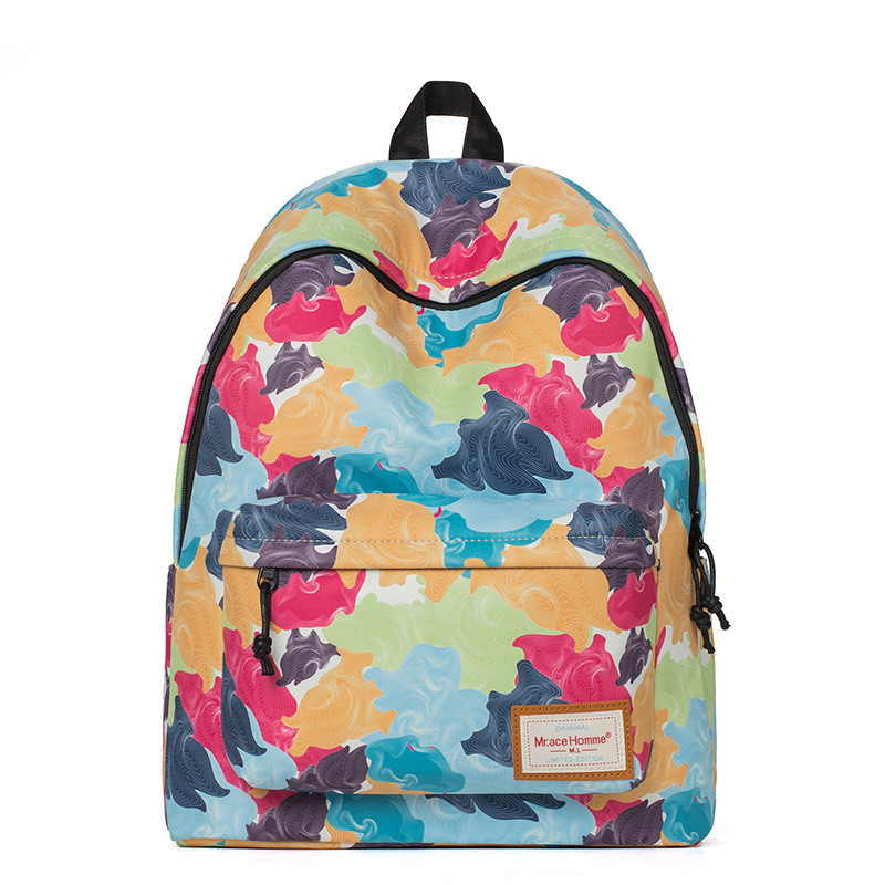 Mr.Ace Homme Korean Printing Canvas Backpack Cheap Women Bags Kawaii School Backpack mochilas mujer mochila feminina escolar 2017 the hobbit the lord of the rings eye of sauron gilding printing women laptop canvas backpack mochila escolar school bags