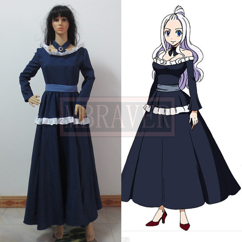Fairy Tail Mirajane Strauss Cosplay Costume Blue Dress Custom Made Any Size Anime Cosplay Set Dress Shirt Collar Styles Costume Clowndresses For The Elderly Aliexpress Black strapless dress with white frill $10 off if you buy the mirajane strauss's wig together sku: us 53 3 18 off fairy tail mirajane strauss cosplay costume blue dress custom made any size anime cosplay set dress shirt collar styles costume