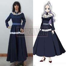 FAIRY TAIL Mirajane Strauss cosplay azul vestido Por Encargo Cualquier tamaño Anime cosplay conjunto