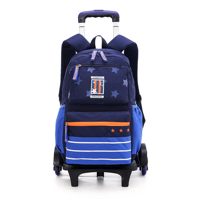 Fashion Children Trolley School Bag 2/6 wheels Removable Backpack School bags Waterproof Backpack Travel Bag Mochilas EscolaresFashion Children Trolley School Bag 2/6 wheels Removable Backpack School bags Waterproof Backpack Travel Bag Mochilas Escolares