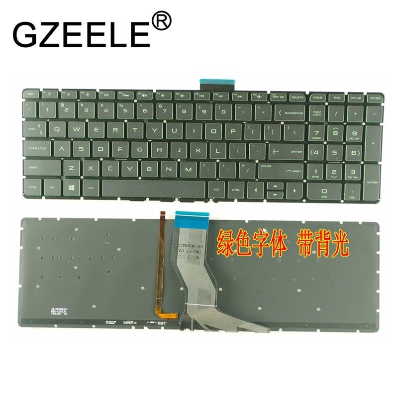 GZEELE New US Laptop Keyboard For HP Pavilion 15-AU 15-au000 15-aw000 15-bk000 15-bc 15-bc000 15-ak000 15-AN Backlit No Frame