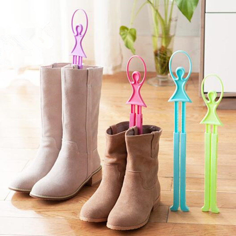 Creative Scalable Dancers Boots Hold  Plastic Mounting Bracket Extended Shoe tree Stretcher Protection of Shoes Shoe Care Kit  цены