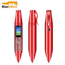 """Unids/lote de 3 pantallas para teléfono móvil UNIWA AK007 con forma de bolígrafo de 0,96 """", Tarjeta SIM Dual, teléfono móvil 2G GSM, Bluetooth marcador, Voz Mágica, grabadora de voz y MP3"""