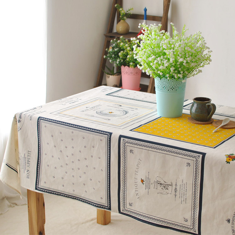 Modello Di Cucitura In Cotone E Lino Tovaglia Tessili Per La Casa
